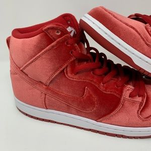 info for 18b90 c5eed Nike Shoes - Nike SB Pro Dunk High Premium Red Velvet Shoes